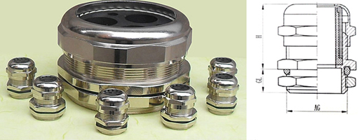 Multi hole Metallic(5-8 holes) Cable glands